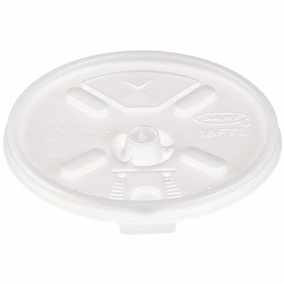 DART 16-SERIES TRANSLUCENT LIFT N' LOCK STRAW SLOTTED LID (1000 PER PACK)