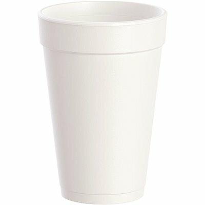 DART J-STYLE WHITE 16 OZ. STYROFOAM DRINK CUPS (1,000-CUPS PER CASE)