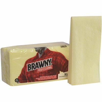 BRAWNY PROFESSIONAL DISPOSABLE DUSTING CLOTH IN YELLOW (4-PACKS PER CASE)