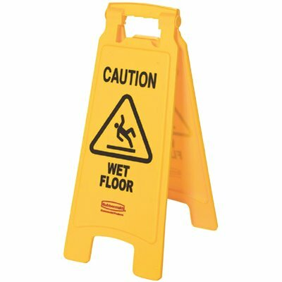 RUBBERMAID COMMERCIAL PRODUCTS 25 IN. X 11 IN. PLASTIC 2-SIDED CAUTION WET FLOOR SIGN