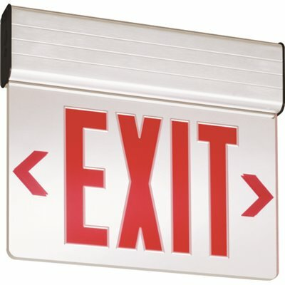 LITHONIA LIGHTING EDG EDGE-LIT INTEGRATED LED SURFACE MOUNT EXIT SIGN RED
