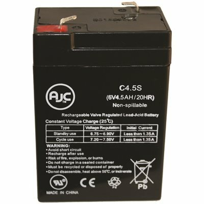 LITHONIA LIGHTING ELB 06042 6-VOLT EMERGENCY REPLACEMENT BATTERY