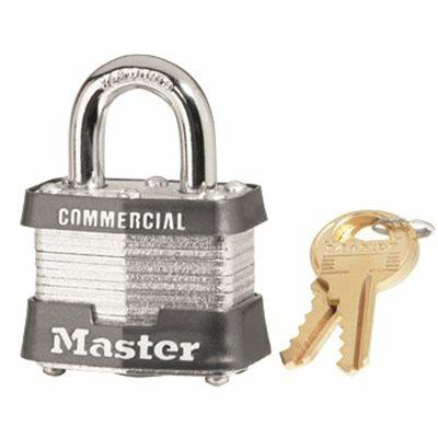 MASTER LOCK #3 1-9/16 IN. LAMINATED STEEL PADLOCK, KEYED ALIKE WITH KEYWAY