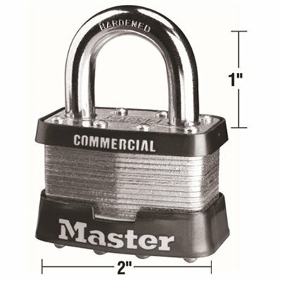 MASTER LOCK #5 2 IN. LAMINATED STEEL PADLOCK, KEYED ALIKE WITH KEYWAY A473