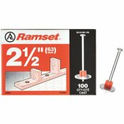 RAMSET 2-1/2 IN. DRIVE PINS WITH WASHERS (100-PACK)