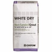 CUSTOM BUILDING PRODUCTS WHITE DRY 25 LBS. NON-SANDED GROUT