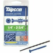 TAPCON 1/4 IN. X 2-3/4 IN. PHILLIPS-FLAT-HEAD CONCRETE ANCHORS (75-PACK)