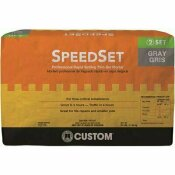 CUSTOM BUILDING PRODUCTS SPEEDSET 25 LBS. GRAY FORTIFIED THINSET MORTAR