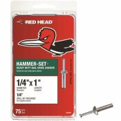 RED HEAD 1/4 IN. X 1 IN. HAMMER-SET NAIL DRIVE CONCRETE ANCHORS (75-PACK)