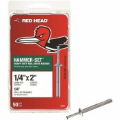RED HEAD 1/4 IN. X 2 IN. HAMMER-SET NAIL DRIVE CONCRETE ANCHORS (50-PACK)
