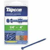 TAPCON 1/4 IN. X 4 IN. HEX-WASHER-HEAD CONCRETE ANCHORS (25-PACK)