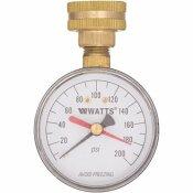 WATTS 3/4 IN. PLASTIC WATER PRESSURE TEST GAUGE - WATTS PART #: DP IWTG