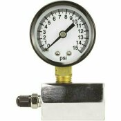 DANCO 0 - 15 PSI 1/10 INCREMENT COMPRESSED AIR TEST GAUGE