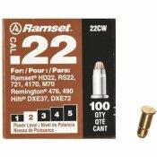 RAMSET 0.22 CALIBER BROWN SINGLE SHOT POWDER LOADS (100 PER PACK)