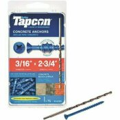 TAPCON 3/16 IN. X 2-3/4 IN. PHILLIPS FLAT HEAD CONCRETE ANCHORS (75-PACK)