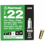 RAMSET 0.22 CALIBER GREEN SINGLE SHOT POWDER LOADS (100 PER PACK)