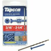 TAPCON 3/16 IN. X 2-1/4 IN. PHILLIPS-FLAT-HEAD CONCRETE ANCHORS (75-PACK)