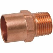 NIBCO 3/4 IN. X 1 IN. COPPER PRESSURE CUP MALE ADAPTER FITTING