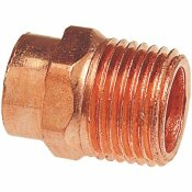 NIBCO 1/2 IN. X 3/4 IN. COPPER PRESSURE CUP X MIPT MALE ADAPTER
