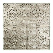 FASADE TRADITIONAL STYLE #2 2 FT. X 2 FT. VINYL LAY-IN CEILING TILE IN CROSSHATCH SILVER