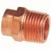 EVERBILT 1-1/2 IN. COPPER PRESSURE CUP X MIP MALE ADAPTER FITTING