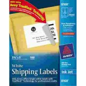 AVERY DENNISON AVERY SHIPPING LABELS WITH TRUEBLOCK TECHNOLOGY, 3-1/2 X 5, WHITE, 100/PACK