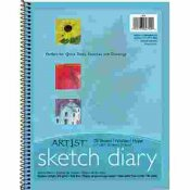 PACON CORPORATION ART 1ST SKETCH DIARY, 11 X 8 1/2, 60 LB, 70 SHEETS, WHITE