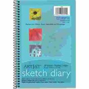 PACON CORPORATION ART 1ST SKETCH DIARY, 9 X 6, WHITE, 70 SHEETS/PAD, 12/PACK