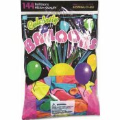 TABLEMATE HELIUM QUALITY LATX BALLONS, ASSORTED (144-PACK)