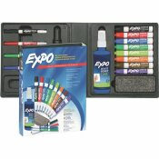 EXPO LOW ODOR DRY ERASE MARKER ERASER AND CLEANER CHISEL/FINE (12-SET)