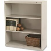 TENNSCO METAL BOOKCASE, 3 SHELVES, 34-1/2W X 13-1/2D X 40H, PUTTY