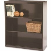 TENNSCO 34-1/2 IN. W X 13-1/2 IN. D X 40 IN. H BLACK METAL 3-SHELVES BOOKCASE