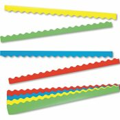 TREND ENTERPRISES, INC. TERRIFIC TRIMMERS BORDER VARIETY PACK, 2-1/4 IN. X 39 IN., ASSORTED COLORS, 48 PER SET