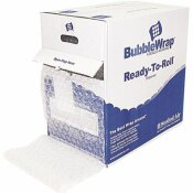 SEALED AIR 5/16 IN. THICK, 12 IN. X 100 FT. BUBBLE WRAP CUSHIONING MATERIAL IN DISPENSER BOX
