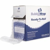 BUBBLE WRAP CUSHION BUBBLE ROLL, 1/2 IN. THICK, 12 IN. X 65FT