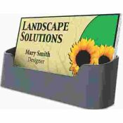 DEFLECTO CORPORATION RECYCLED BUSINESS CARD HOLDER, HOLDS 50 2 X 3 1/2 CARDS, BLACK