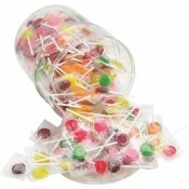 OFFICE SNAX 7 ASSORTED FRUIT FLAVORS LICK STIX SUCKERS (220/CANISTER)