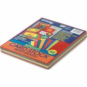 PACON CORPORATION ARRAY CARD STOCK, 65 LBS., LETTER, ASSORTED BRIGHT COLORS, 100 SHEETS/PACK