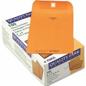 QUALITY PARK PRODUCTS PARK RIDGE KRAFT CLASP ENVELOPE, 6 X 9, LIGHT BROWN, 100/BOX