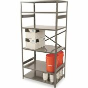 TENNSCO COMMERCIAL STEEL SHELVING, 6 SHELVES, 36W X 24D X 75H, MEDIUM GRAY