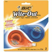 WITE-OUT 1/6 IN. X 472 IN. BIC WITE-OUT EZ CORRECT CORRECTION TAPE NON-REFILLABLE (2-PACK)