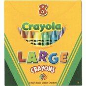 BINNEY & SMITH / CRAYOLA CRAYOLA LARGE CRAYONS, TUCK BOX, 8 COLORS/BOX