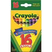 BINNEY & SMITH / CRAYOLA CRAYOLA CLASSIC COLOR PACK CRAYONS, 16 COLORS/BOX
