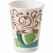 DIXIE 16 OZ. COFFEE HAZE INSULATED PAPER HOT CUP WITH FITS LARGE LIDS (20 SLEEVES PER CASE, 50 CUPS PER SLEEVE)