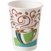 DIXIE PERFECTOUCH 8 OZ. COFFEE DREAMS PAPER HOT DRINK CUPS (50 PER PACK)