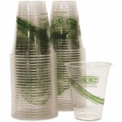 ECO-PRODUCTS 12 OZ. CLEAR COMPOSTABLE CORN-BASED COLD DRINK CUPS (50 PER PACK)