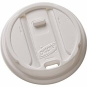 DIXIE SMART TOP WHITE PLASTIC RECLOSEABLE HOT CUP LID (100-PACK)