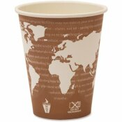 ECO-PRODUCTS 8 OZ. PLUM WORLD ART RENEWABLE RESOURCE COMPOSTABLE HOT DRINK CUPS