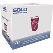 SOLO 10 OZ. BISTRO AND MAROON PAPER HOT DRINK CUPS (300 PER CARTON)