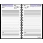 AT-A-GLANCE AT-A-GLANCE DAILY APPOINTMENT BOOK, NO APPOINTMENT TIMES, 4-7/8 X 8, BLACK